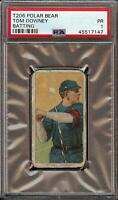 Rare 1909-11 T206 Tom Downey Batting Polar Bear Back Cincinnati PSA 1