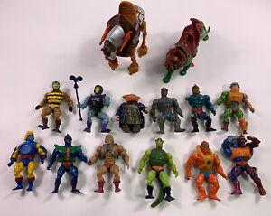 ORIGINAL He-Man Masters of the Universe Action Figures LOT Battlecat Panthor Vtg