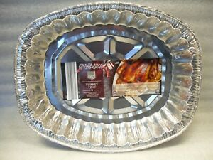 Large Oval Foil Turkey Roasting Tray Aluminium Disposable Catering Dish Pan XMAS