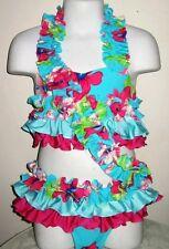 JMM ORIGINALS Hawaiian flower swimwear with pull off skirt 5/6 floral Pageant