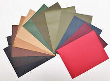 VEG-TAN LEATHER PIECES OF SHEEPSKIN CRAFT PACK 12 @ 23CM X 16CM ASSORTED COLOURS