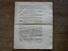 Acte constitutionnel n° 1072, 24 juin 1793, déclaration des droits de l'homme