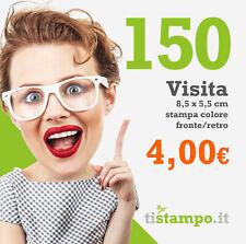 150 BIGLIETTI DA VISITA 300 GR. STAMPA FRONTE/RETRO A 4 EURO