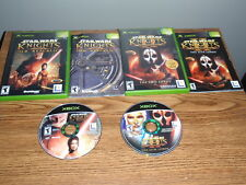 Star Wars Knights of the Old Republic 1 & 2 XBOX Games Complete