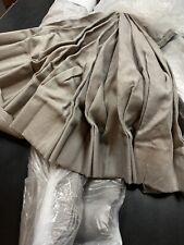Pair of Custom Restoration Hardware Linen Curtains 161Lx45W Extra Long Fog Grey