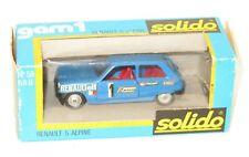 Original 1970`s Solido - Made in France - #58  Renault 5 Alpine  Blue
