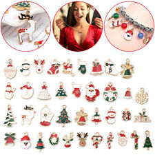 UK Alloy Enamel Mixed Christmas Charms Pendant Decor Craft DIY Making Jewelry