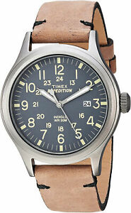 Timex Men's Expedition Scout 40 Stainless Steel/Brown Leather Watch TW4B01700
