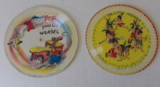 Double Sided Picture Disc Records 78 RPM Voco Toby Deane 1948 Bunny Cat Weasel