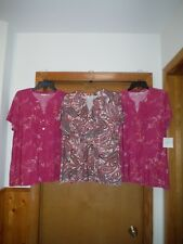 Short Sleeve Women's Tops XL,L,M,Croft & Barrow Multi Color 95% polyester 5% spa