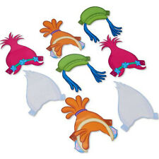 TROLLS PAPER HEADBANDS (8) ~ Birthday Party Supplies Favors Hat Dreamworks Poppy