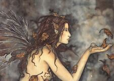 Postcard Amy Brown Gothic Fairy AUTUMN WHISPER 2001 Art Print Collectable