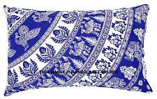 Indian Mandala Print Pillow Case Throw Cotton Cushion Cover Pillow Sham Bohemian