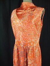 MIRIAM SUSSKIN FOR MEL NAFTAL Vtg 60s Orange/Pink Mod Dress-Bust 36/S-M