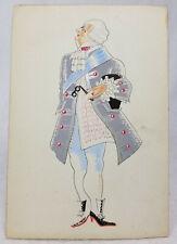 Antique Style Vintage Costume Design Illustration English French Unsigned