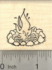 Campfire Rubber Stamp, Camping, Outdoor Adventure D24415 WM