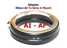 Al - Af Nikon F Al Objetivo Lente Adaptador a -to Minolta Af Sony Alpha a Monte