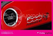 Fiat 500 Abarth alimenté par Scorpion Dash Sticker, Decal, graphique x1 en Noir