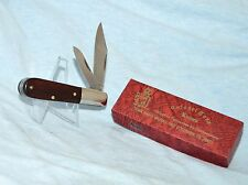 "OLD ORIGINAL COLONEL COON WALNUT BARLOW KNIFE ""COLUMBIA, TN. WITH CASE /BOX"