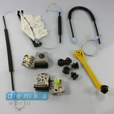 VW Golf IV Window Regulator Repair Complete Set Right Clips + Mounting Front