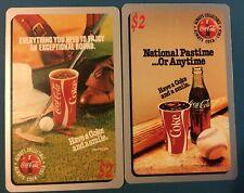 Lot of 2 Coca-Cola Sprint Phone Card $2 Issued: 12/95-Rare-unused