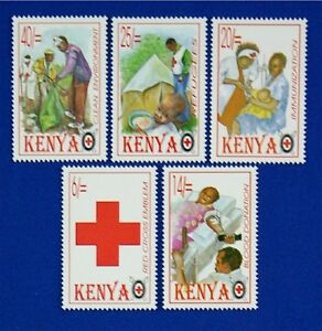 B046A KENYA 1996 Red Cross. Medicine, set of 4 Mint NH