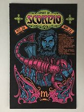 Blacklight Poster Pin-up Print Scorpio & Led Zeppelin Double Sided Prints UV
