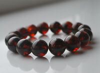 Round Cherry Baltic Amber Beads Bracelet 19.2 gr