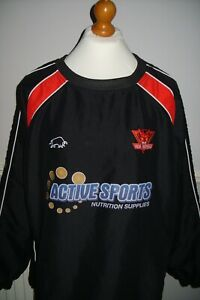 XL SALFORD RED DEVILS OFFICIAL RAGING BULL SPORTSWEAR MESH-LINED TRAINING TOP