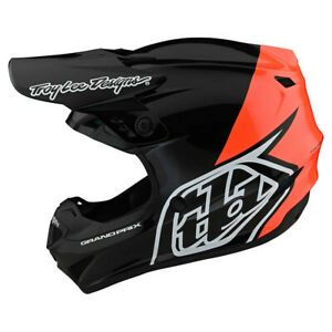 NEW Troy Lee Designs GP Block Black Orange Adult Medium  MX Helmet TLD Motocross