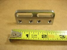 """Steel Slotted Optical Mounting Plate  2-1/2"""" L x 1"""" W x 1/4"""" Thk 1/4-20 Threads"""