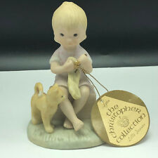 Lefton Christopher Collection porcelain figurine tag cat crochet Kindness shows