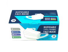 Disposable Face Mask - Flexible - 3 Ply - 50 Masks Per Package