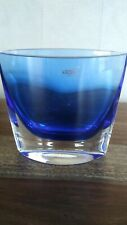 KROSNO POLAND COBALT POCKET VASE W/ ORIGINAL LABEL