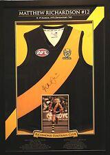 Authentic Signed + Framed Matthew Richardson #12 Guernsey Richmond Tigers AFL