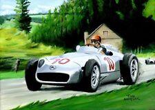 Original Painting Mercedes-Benz W196 #10 Juan Manuel Fangio (ARG) Nagtegaal