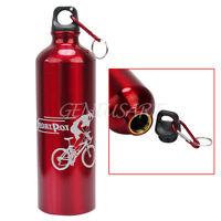 Sport Campeggio Bicicletta Lega Di Alluminio Borraccia Clip In Metallo 750ml