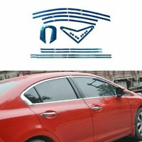 Full Windows Molding Trim Decoration Strips Pillar For Honda Civic 9th 2013-2015