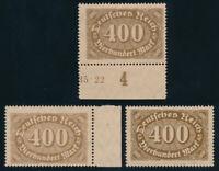 DR 1922, MiNr. 222 a, b und c, tadellos postfrisch, gepr. BPP, Mi. 97,-