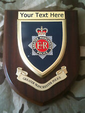 Greater Manchester Police Force Personalised  Wall Plaque
