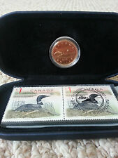 2000 $1 Loonie and Loon Stamp Set Canada Post Royal Canadian Mint