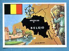 LA TERRA - Panini 1966 - Figurina-Sticker n. 147 - BELGIO -Rec
