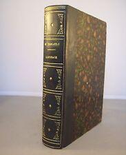LOTHAIR / B. DISRAELI / RELIURE 1/2 CUIR 1870 / LIVRE EN ANGLAIS