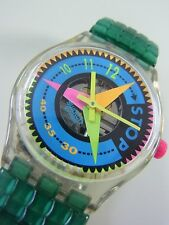 SSK106 Swatch 1994 Stop Watch Vitesse Swiss Made Fluo