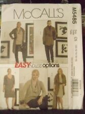 McCall's M5485 Size 10- 18 EASY JACKET,TUNIC,DRESS, PANTS, COWL 2007 Uncut