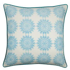 Hamptons Style Stunning Sina Turquoise Blue cushion cover 60x60cm RRP $68.95