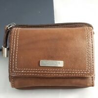 Sonoma Lifestyles Leather Wallet Small Bill Fold Coin Pouch ID Holder Key Ring