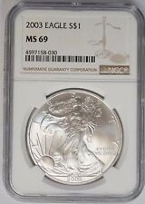2003 American Silver Eagle 1 oz BU NGC MS69 ITEM # 3