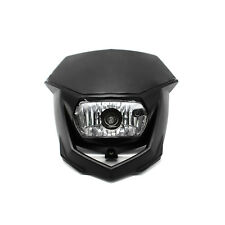 1Piece Black Street Fighter Bike Motorcycle Universal Dirt Bike Headlight 12V H4