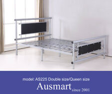 Strong Queen size metal beds with soft cushion | $30 postage to Melbourne metro
